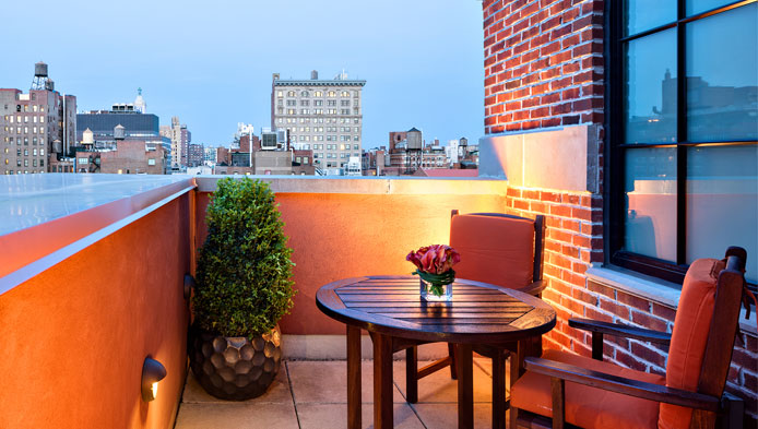The Walker Terrace at Walker Hotel Greenwich Village, NYC
